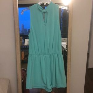 Everly Mint Romper